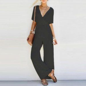 LAST ONE! Black wide leg jumpsuit, small